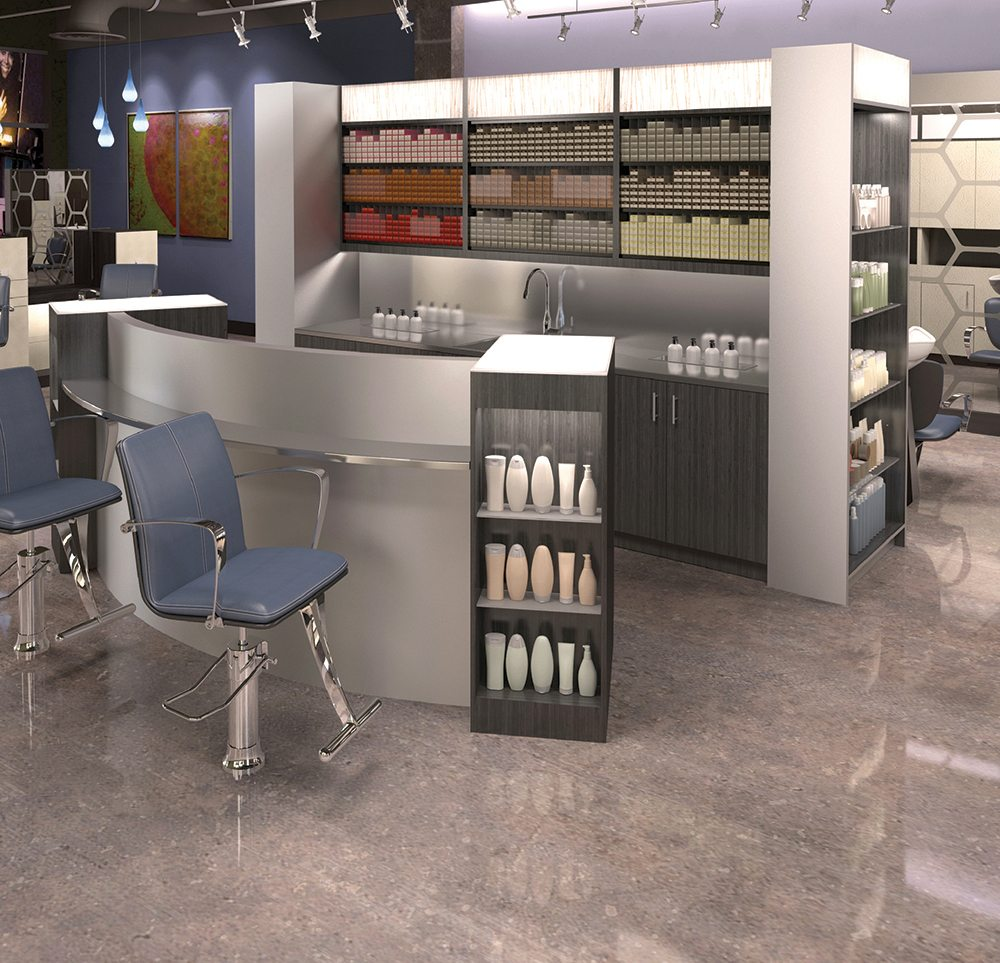 Kaemark utilizes the finest quality of materials... high-grade industrial strength cabinetry materials, such as piano hinges and steel drawer glides. Our chairs are made of 7-ply board where most manufacturers use 5-ply, high-density foam and the heaviest steel gauge base for guaranteeing years of comfort and un-matched durability.
