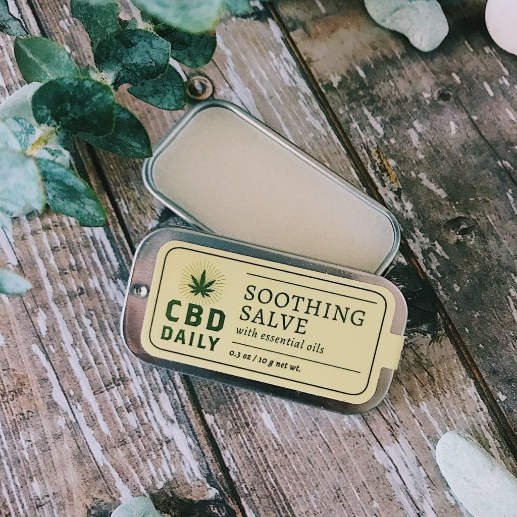CBD Daily Soothing Salve | Perfect size for your bag or to keep in the car